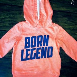 💙Worn Once! Carter's Born Legend Hoodie💙